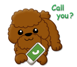 I Love Toy Poodle sticker #8956802