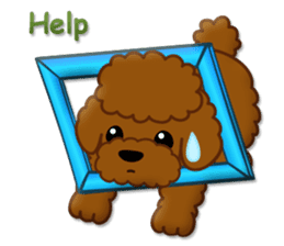 I Love Toy Poodle sticker #8956804