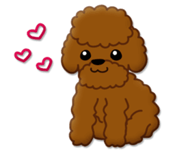 I Love Toy Poodle sticker #8956811