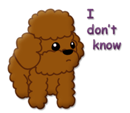 I Love Toy Poodle sticker #8956812