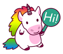 Unicorn Cartoon Fantasy Rainbow Set sticker #8961232