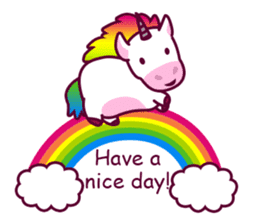 Unicorn Cartoon Fantasy Rainbow Set sticker #8961242
