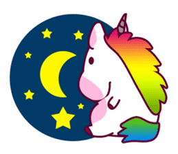 Unicorn Cartoon Fantasy Rainbow Set sticker #8961247