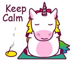 Unicorn Cartoon Fantasy Rainbow Set sticker #8961249