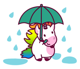 Unicorn Cartoon Fantasy Rainbow Set sticker #8961255
