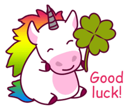 Unicorn Cartoon Fantasy Rainbow Set sticker #8961258