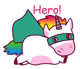 Unicorn Cartoon Fantasy Rainbow Set sticker #8961266
