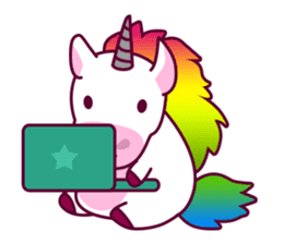 Unicorn Cartoon Fantasy Rainbow Set sticker #8961271