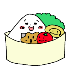 RICE BALL Sticker that can be used