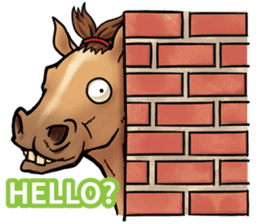 Crazy horse ! sticker #8963538