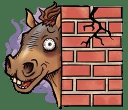 Crazy horse ! sticker #8963539