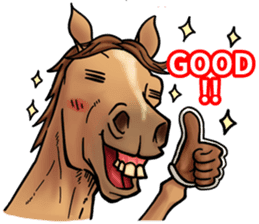 Crazy horse ! sticker #8963543