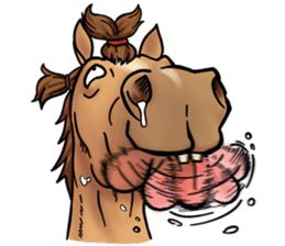 Crazy horse ! sticker #8963545
