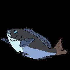japan game fishing Sticker