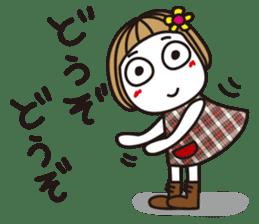 Bangs short girl vol.10 sticker #8978860
