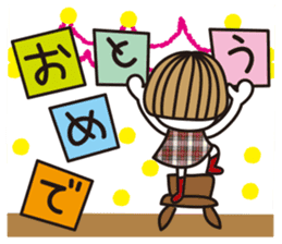 Bangs short girl vol.10 sticker #8978875