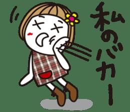 Bangs short girl vol.10 sticker #8978877