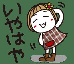 Bangs short girl vol.10 sticker #8978878