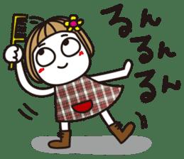 Bangs short girl vol.10 sticker #8978891