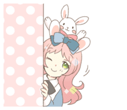 Rabbit ear girl Rosy sticker #8979340