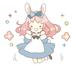 Rabbit ear girl Rosy sticker #8979342