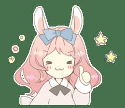 Rabbit ear girl Rosy sticker #8979343