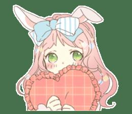 Rabbit ear girl Rosy sticker #8979344