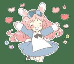 Rabbit ear girl Rosy sticker #8979346