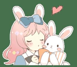 Rabbit ear girl Rosy sticker #8979347