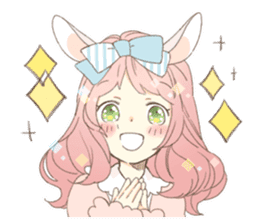 Rabbit ear girl Rosy sticker #8979348