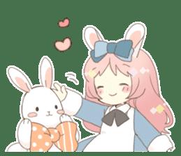 Rabbit ear girl Rosy sticker #8979351