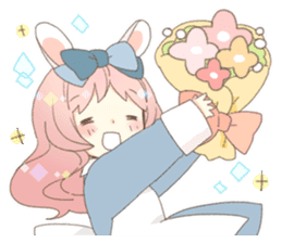 Rabbit ear girl Rosy sticker #8979353