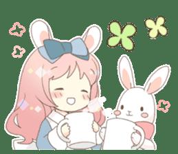 Rabbit ear girl Rosy sticker #8979355