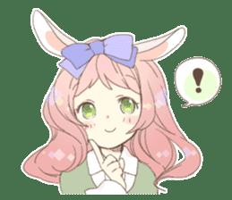 Rabbit ear girl Rosy sticker #8979356