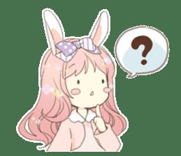 Rabbit ear girl Rosy sticker #8979357