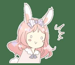 Rabbit ear girl Rosy sticker #8979358