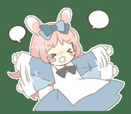 Rabbit ear girl Rosy sticker #8979361
