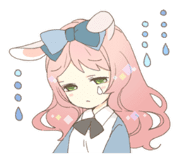 Rabbit ear girl Rosy sticker #8979364