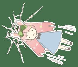 Rabbit ear girl Rosy sticker #8979370