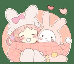 Rabbit ear girl Rosy sticker #8979371