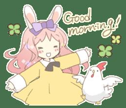 Rabbit ear girl Rosy sticker #8979372
