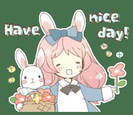 Rabbit ear girl Rosy sticker #8979373