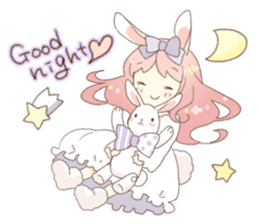Rabbit ear girl Rosy sticker #8979375