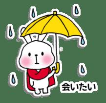 Red Muffler Rabbit sticker #8991456