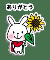 Red Muffler Rabbit sticker #8991458