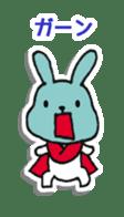 Red Muffler Rabbit sticker #8991459