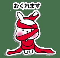 Red Muffler Rabbit sticker #8991460