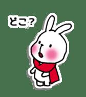 Red Muffler Rabbit sticker #8991462