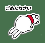 Red Muffler Rabbit sticker #8991463