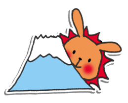 Red Muffler Rabbit sticker #8991468